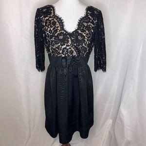 Eliza J Black Lace Cocktail Dress